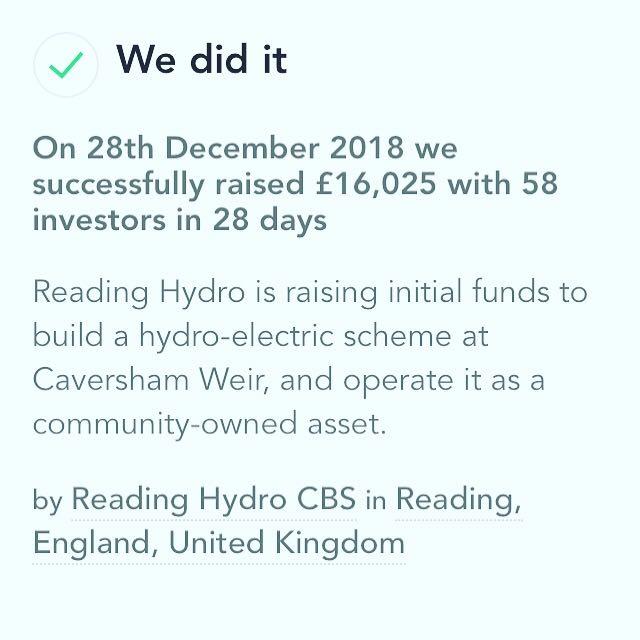 We did it Hydro Pioneer Crowdfund